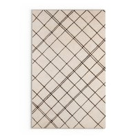 Carson Carrington Charlottenlund Hand-tufted Contemporary Beige New Zealand Wool Abstract Area Rug (5' x 8')