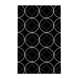 Carson Carrington Pitea Hand-tufted Contemporary Black Geometric Abstract Area Rug - 2' x 3'/Surplus
