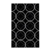 Carson Carrington Pitea Hand-tufted Contemporary Black Geometric Abstract Area Rug - 2' X 3'