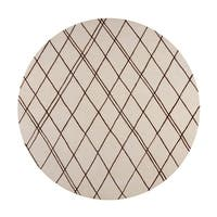 Carson Carrington Charlottenlund Hand-tufted Contemporary Beige New Zealand Wool Abstract Area Rug - 8' Round