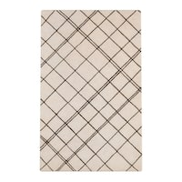 Carson Carrington Charlottenlund Hand-tufted Contemporary Beige New Zealand Wool Abstract Area Rug (3'3 x 5'3)