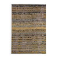 Carson Carrington Karlskrona Distressed Ikat Yellow/ Grey Rug - 9'9 x 12'2