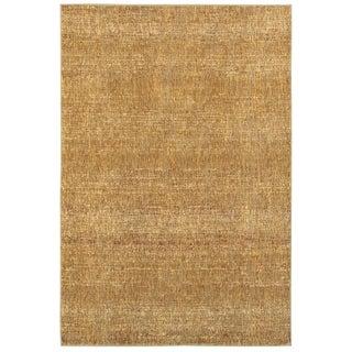 "Carson Carrington Skelleftea Tonal Textured Gold/ Yellow Area Rug - 10' x 13'2"""
