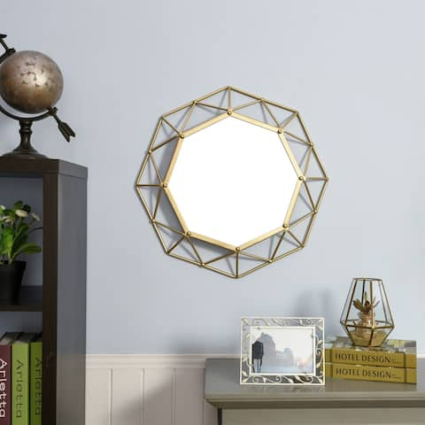 The Curated Nomad Alavus Gold Decorative Wall Mirror
