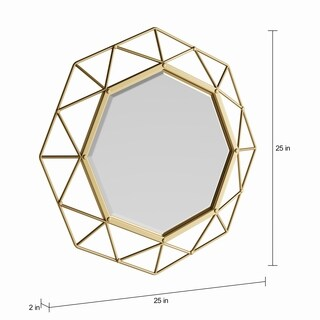 The Curated Nomad Alavus Gold Decorative Mirror