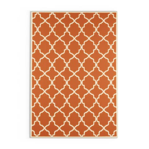 Carson Carrington Vasby Indoor/ Outdoor Lattice Rug