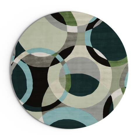 Carson Carrington Roskilde Hand-Tufted Geometric Indoor Area Rug - 4' Round/Surplus