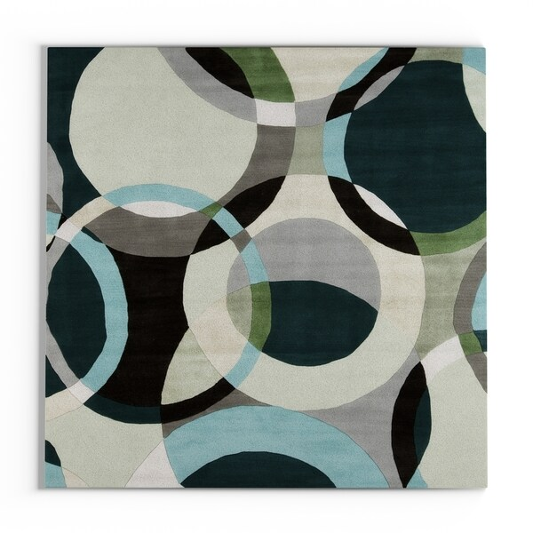 Carson Carrington Roskilde Hand-Tufted Geometric Indoor Area Rug - 8' Square/Surplus