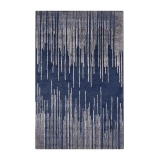 Silver Orchid Berliner Hand-Tufted Geometric New Zealand Wool Area Rug - 8' x 11'