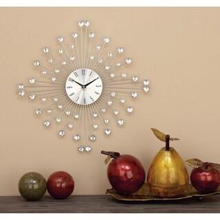 Carson Carrington Alavus Metal Acrylic Wall Clock