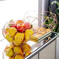 Carson Carrington Alavus Metal Set of Two Baskets Storage Accessory
