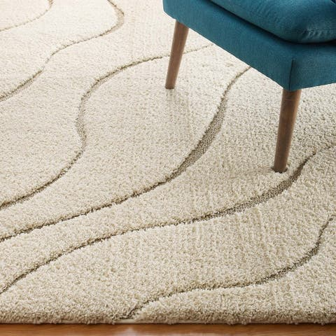 Abound Abstract Swirl Shag Area Rug