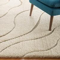 Abound Abstract Swirl Shag Area Rug - 5' x 8'