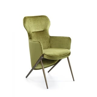 Link to Modrest Coreen Green Velvet Accent Chair Similar Items in Living Room Chairs