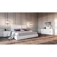 Modrest Nicla Italian White Queen Bedroom Set