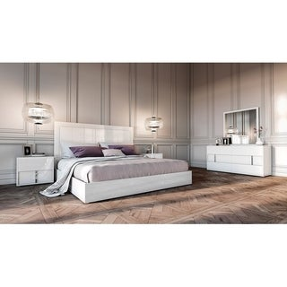Modrest Nicla Italian White Eastern King Bedroom Set
