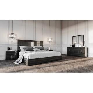 Modrest Ari Italian Grey Eastern King Bedroom Set