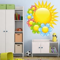 """Sun Flowers Kids Room Full Color Wall Decal Sticker K-1053 FRST Size 20""""x20"""""""