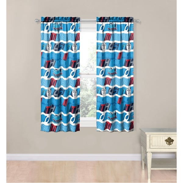 Mattel Thomas The Tank Engine T Block 4 Pice Decorative Curtain Set