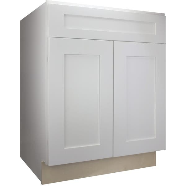 Shop Cabinet Mania White Shaker Kitchen Cabinet Base 30\