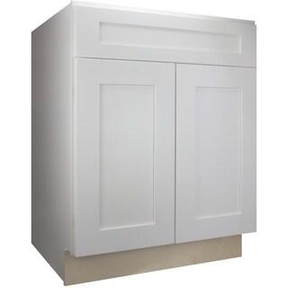 "Cabinet Mania White Shaker Kitchen Cabinet Base 24"" W x 34.5"" H x 24"" D"