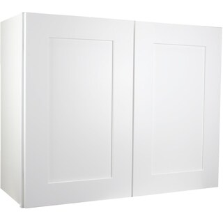 """Cabinet Mania White Shaker Kitchen Cabinet Wall Cabinet 30"""" W x 42"""" H x 12"""" D"""