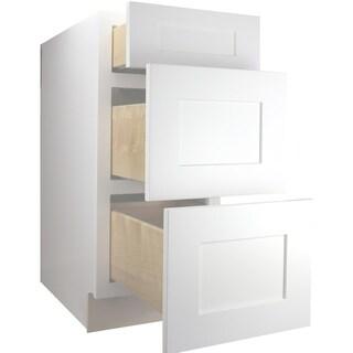 "Cabinet Mania White Shaker Kitchen Cabinet Drawer Base 12"" W x 34.5"" H x 24"" D"