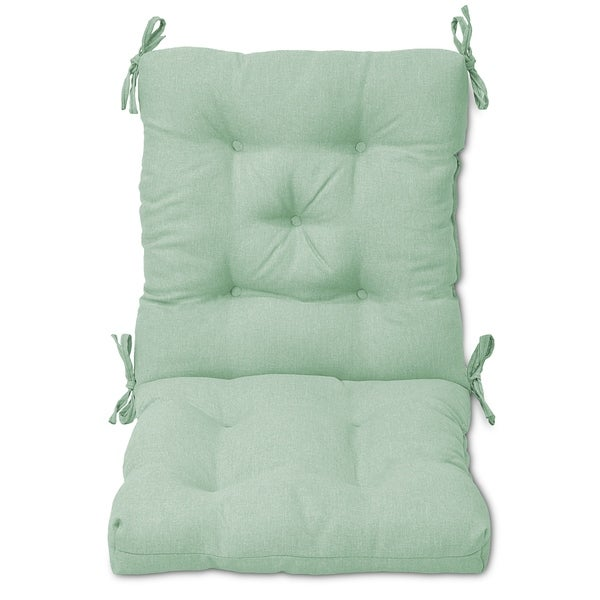 Shop Tufted Outdoor Chair Cushion Free Shipping Today Overstock
