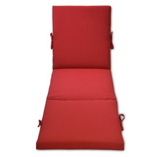 Outdoor Chaise Cushion (Option: Red)