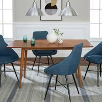 5-Piece Mid-Century Dining Set - Acorn/Blue