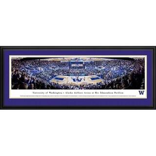 Blakeway Panoramas Washington Huskies Basketball Framed Print