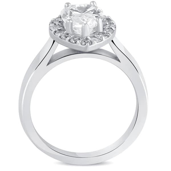 Shop Pompeii3 14k White Gold 1 7 8 Ct Tdw Pear Shape Diamond