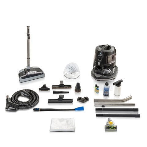 Reconditioned E2 BLACK E2 SERIES Rainbow Vacuum with Tools and GV Powerhead With New Aftermarket Tools & Attachments