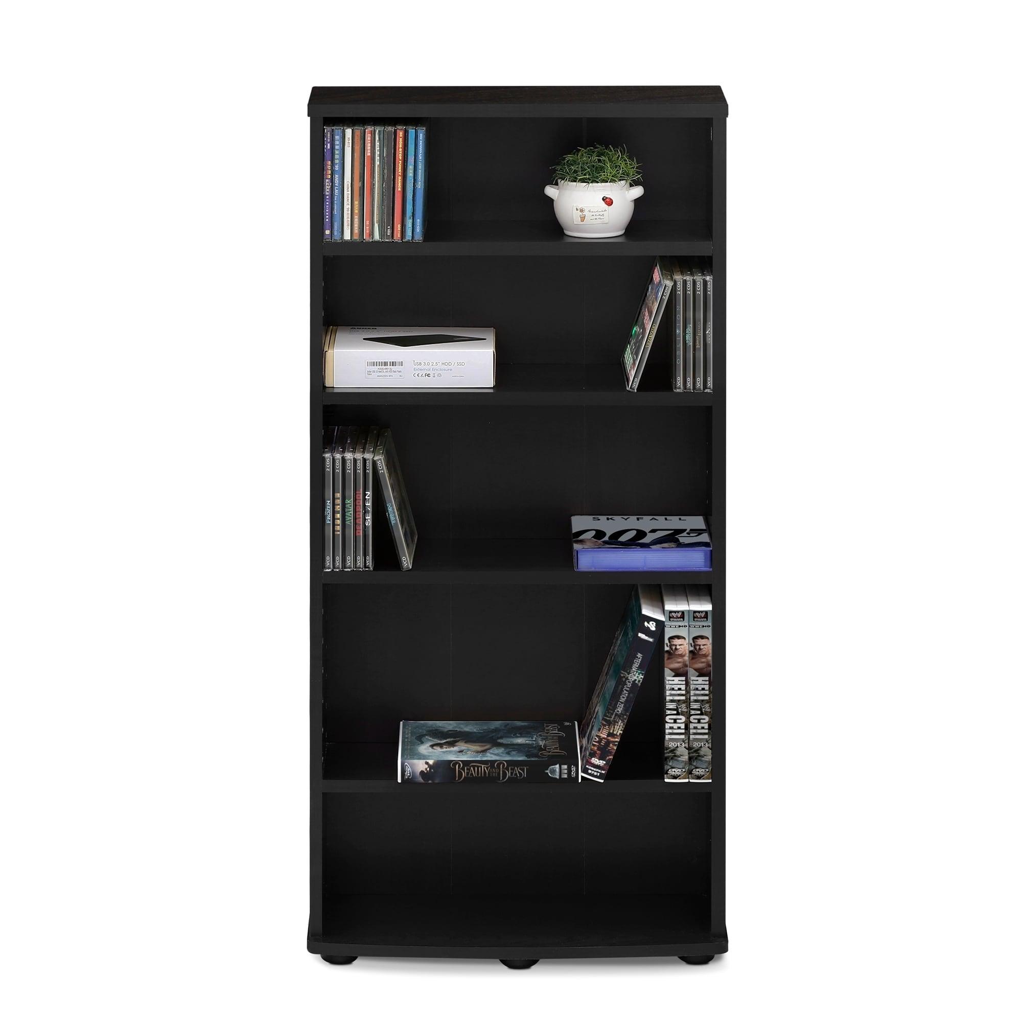 Espresso 17059EX Furinno JAYA 6-Tier Multimedia Storage Tower