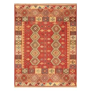 Handmade Anatolia Wool Kilim (Turkey) - 4'11 x 6'6