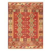Handmade Herat Oriental Turkish Hand-woven Tribal Anatolia Wool Kilim (4'11 x 6'6) (Turkey)