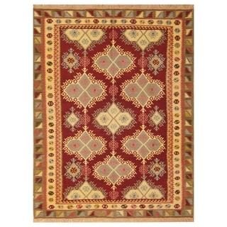 Handmade Anatolia Wool Kilim (Turkey) - 4'10 x 6'4
