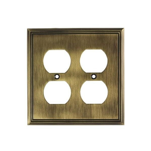 Shop Rok Wall Plate Contemporary Quadruple Receptacle Outlet Antique