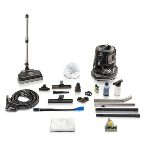 Reconditioned E2 BLACK E2 SERIES Rainbow Vacuum with Tools and Genuine Powerhead With New Aftermarket Tools & Attachments