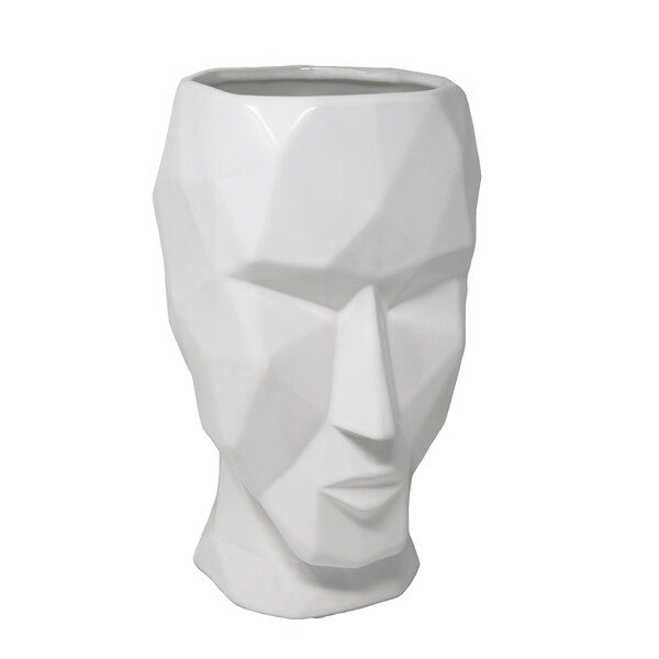 Shop Sagebrook Home 13667 Decorative Ceramic Face Vase White