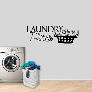 Laundry Makes Me A Basket Case Wall Decal - MEDIUM