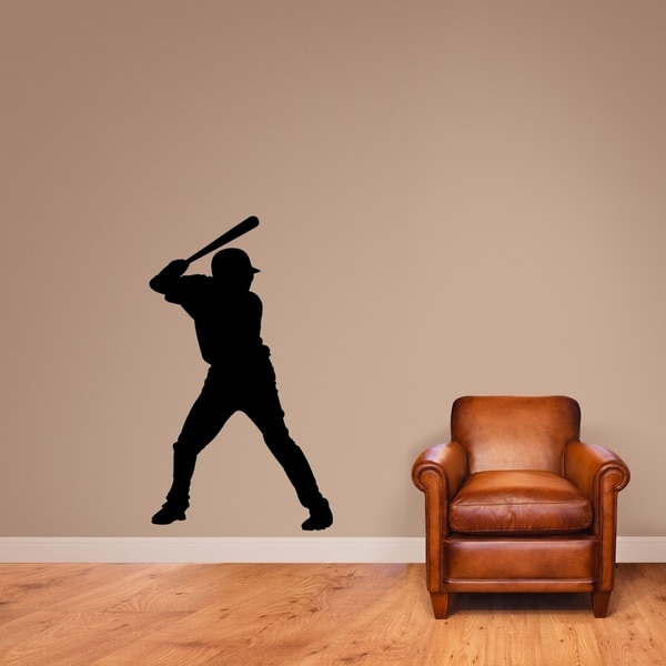 Baseball Batter Silhouette Wall Decal - MEDIUM