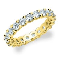 Amore 14K Yellow Gold 2.0 CTTW Common Prong Eternity Diamond Ring