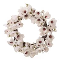 Twig White Magnolia Wreath