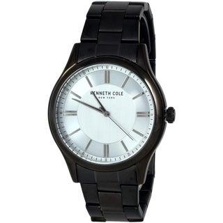 Kenneth Cole New York Men's Blue Analog Watch with Black Steel Bracelet