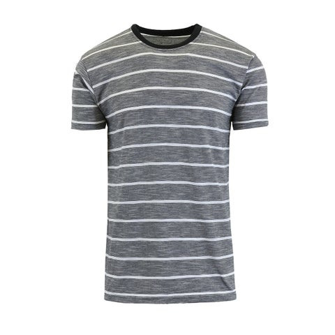 Galaxy By Harvic Men's Short Sleeve Marled Striped Tees