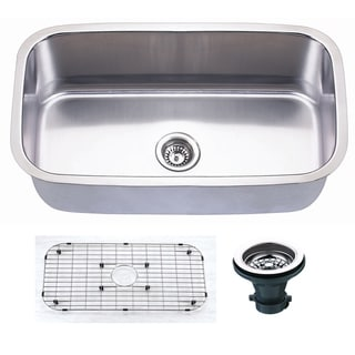 """Link to Premium Undermount 16 Gauge Stainless Steel 31.5"""" Single Bowl Kitchen Sink with Grid and strainer Similar Items in Sinks"""
