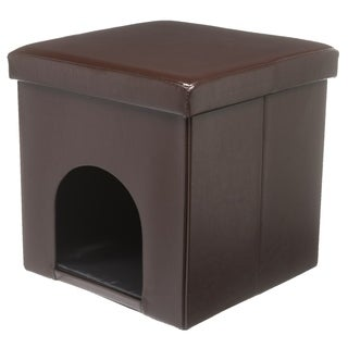 Folding Storage Pet House Ottoman
