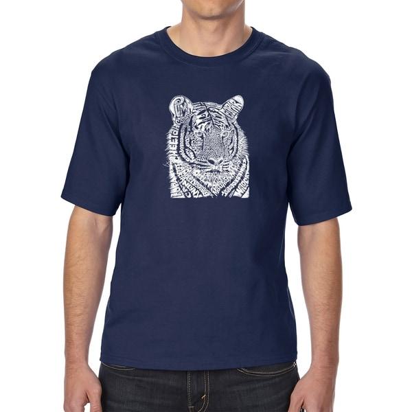 LA Pop Art Mens Tall Word Art T-shirt - Big Cats