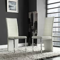Reynold White Metal Sleek Modern Contoured Dining Chair (Set of 4) by iNSPIRE Q Bold (As Is Item)